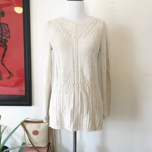 Anthropologie Sparrow Ivory Pullover Sweater Small